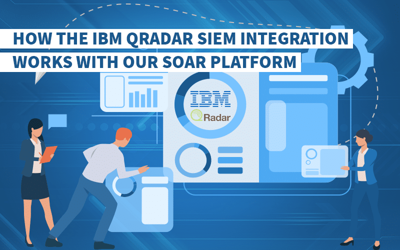 How the IBM QRadar SIEM integration works with our SOAR platform