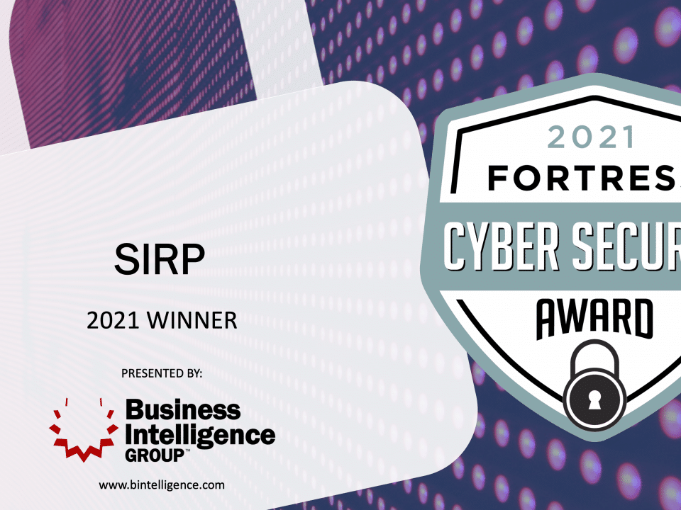SIRP Wins 2021 Fortress Cyber Security Award